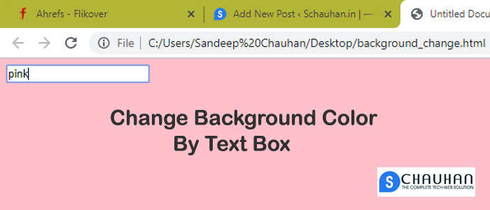 How To Change HTML Body Color By Using Textbox