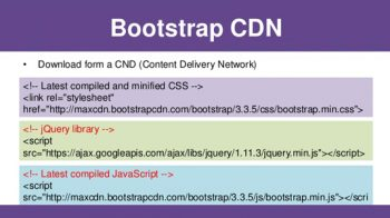 Bootstrap CDN | Getting Started Bootstrap