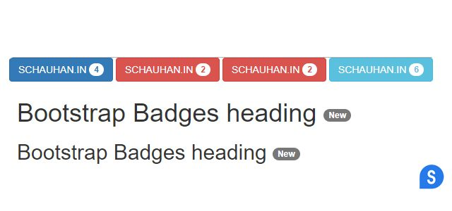 Bootstrap Badges and Labels