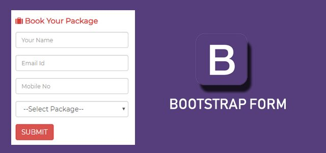 Bootstrap Form Bannar, Bootstrap Form