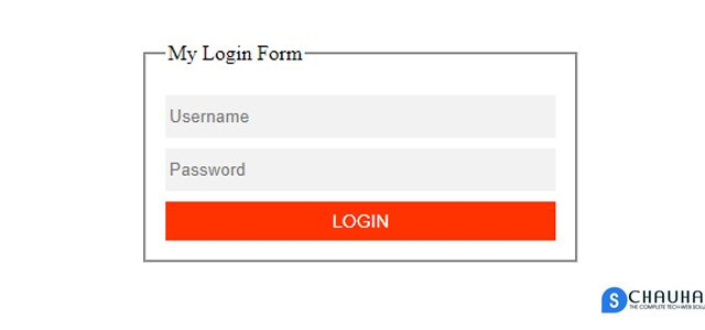 Login Form Using HTML And CSS