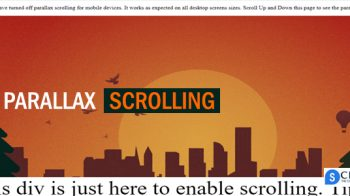 How To Create Parallax scrolling effect using CSS.