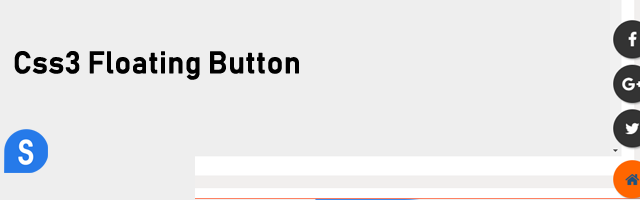 Css Floating Buttons with submenu