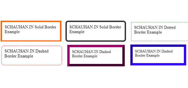 HTML Border Design Examples and Tutorials