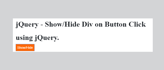 show and hide div on click suing jquery
