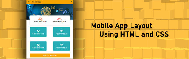 Mobile App Layout in html and css