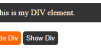 Hide and Show div using Javascript