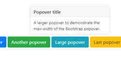 Bootstrap 4 Popovers Examples