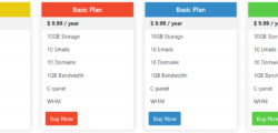 Bootstrap Pricing Table Examples