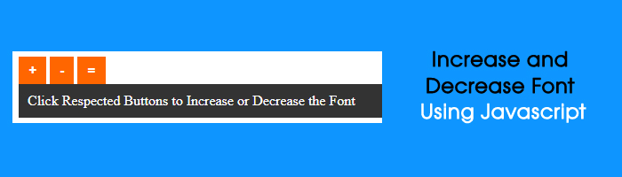 increase decrease font size on website